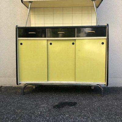 Buffet formica jaune années 70
