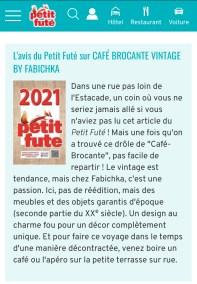 L'avis du petit Futé sur Café Brocante Grenoble
