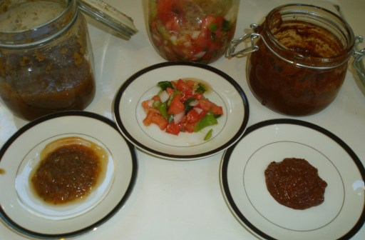 three vintage California salsas