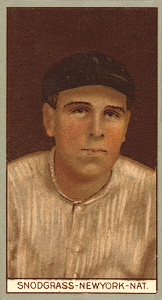 1912 Brown Backgrounds (Red Cycle) Fred Snodgrass #169 Baseball Card