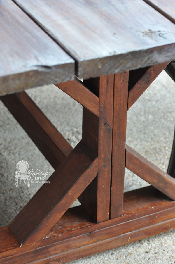 outdoor farmhouse table vintage charm