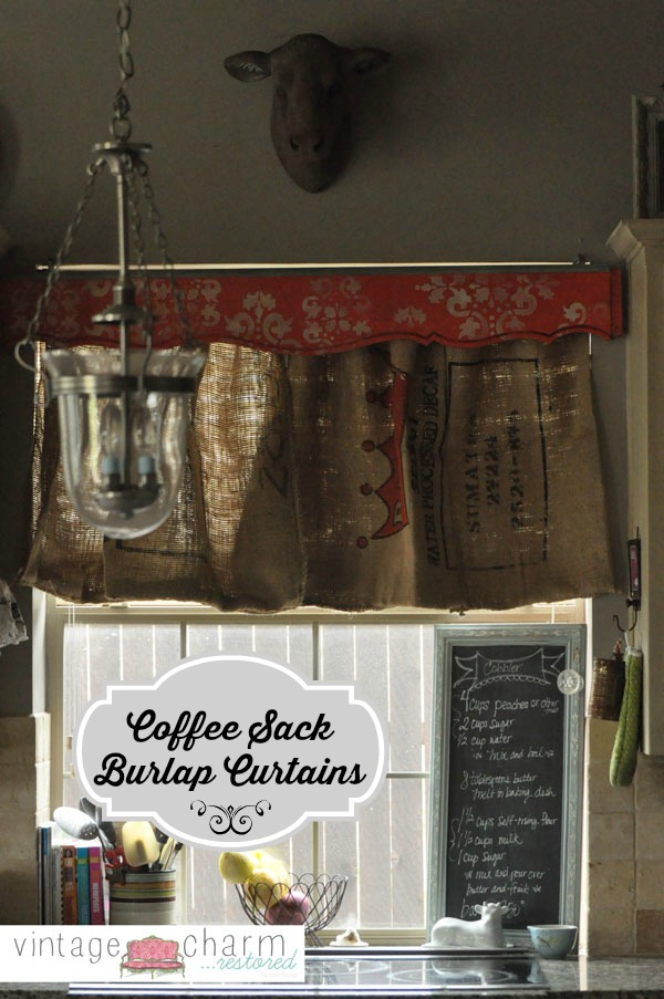 Burlap Coffee Sack Curtains Amp Footboard Valance