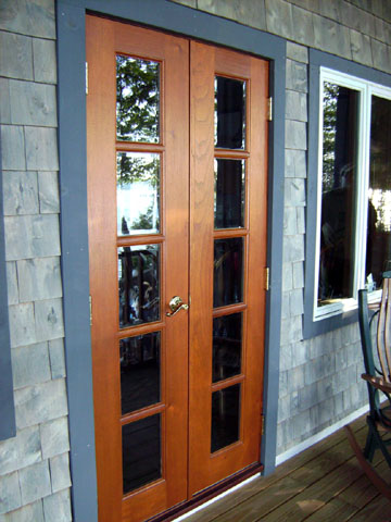 wood french doors exterior french