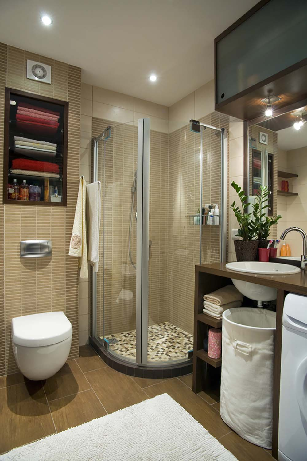 51 Beautiful and Functional Small Bathrooms on Small Space:t5Ts6Ke0384= Small Bathroom Ideas  id=55773