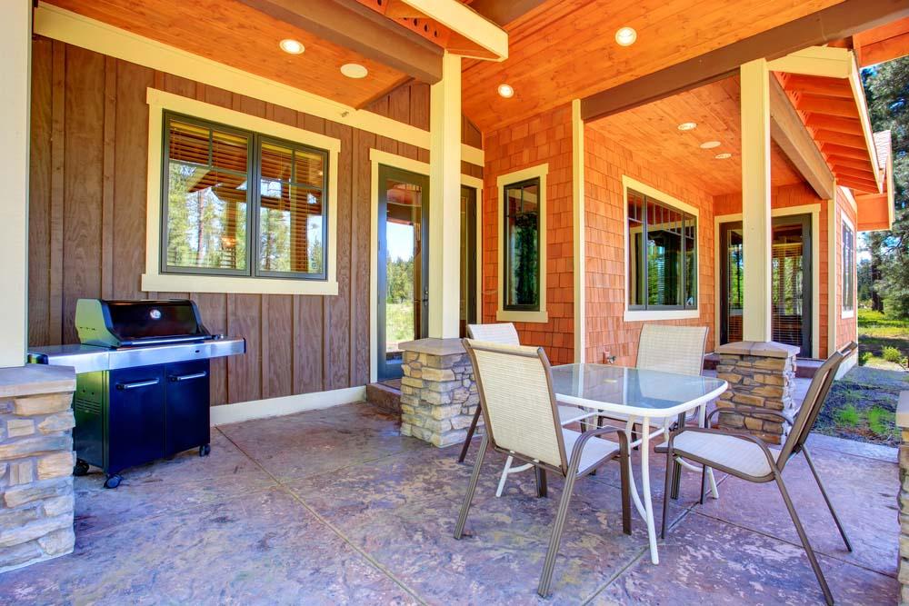 48 Beautiful Patio Designs - Concrete, Flagstone and Brick on Covered Patio Design Ideas id=99078