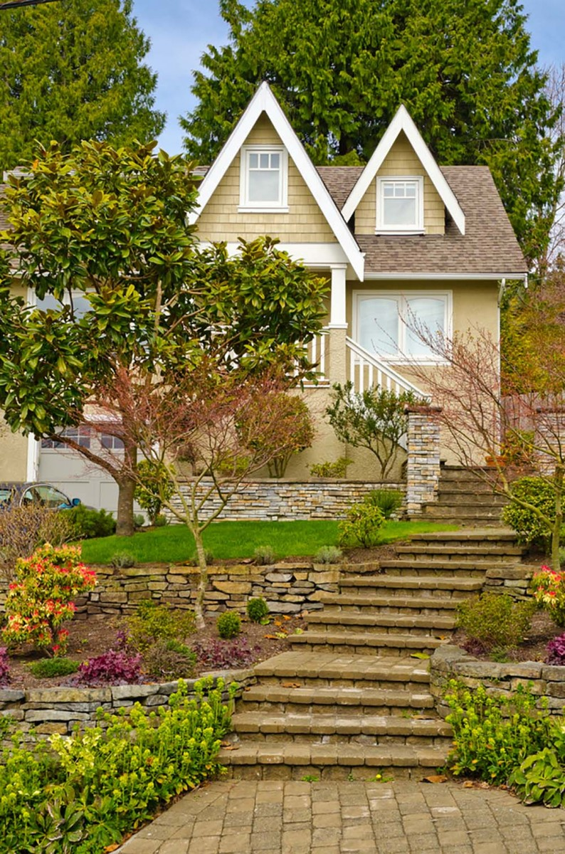 37 Inspiring Front Yard Landscaping Ideas - Page 3 of 3 on Uphill Backyard Ideas  id=51883