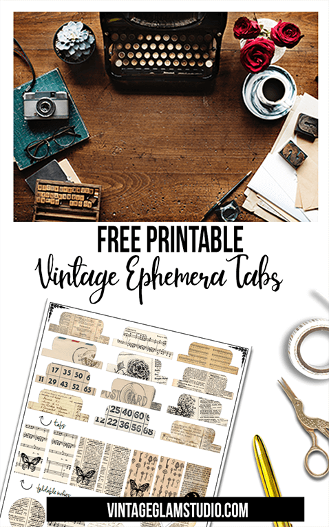 photograph relating to Free Printable Ephemera called No cost Printable Down load - Common Ephemera Tabs - Basic