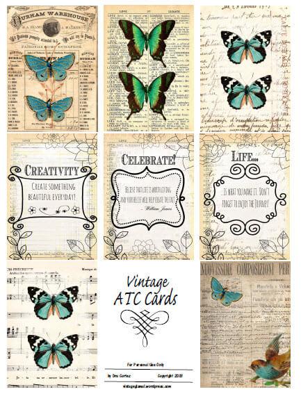 Vintage atc Cards | free printable