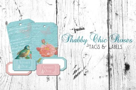 Free printable Download- Shabby Chic Roses Tags and Labels - Vintage