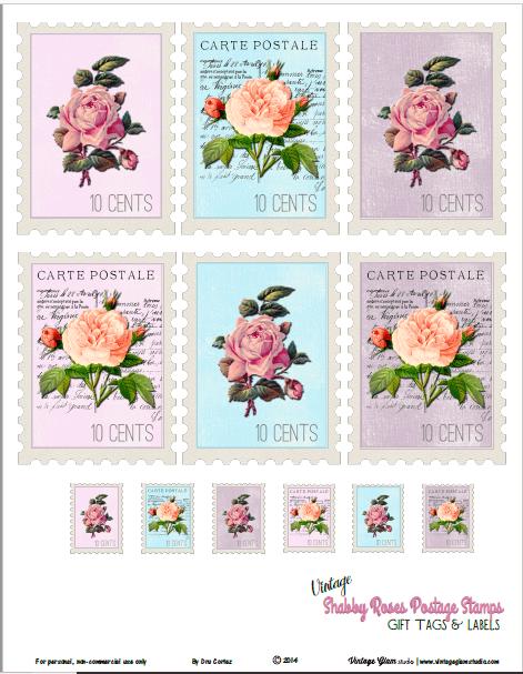 Vintage-Postage-Stamps