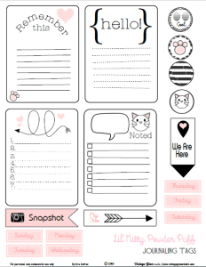 Kitty Journaling Cards preview