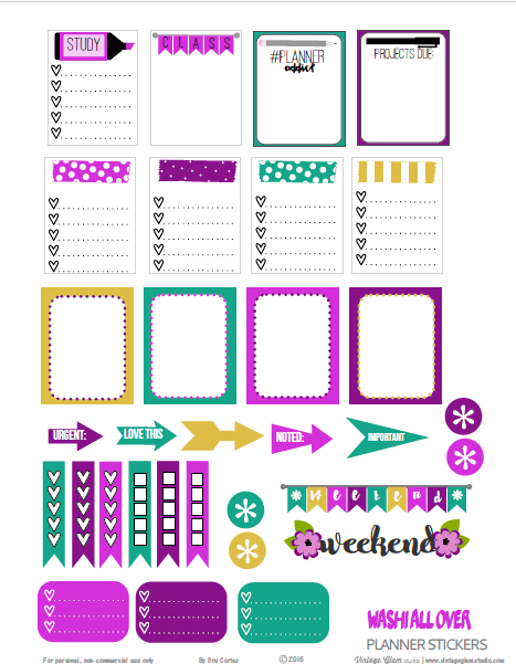 Washi all Over | free printable for personal use only