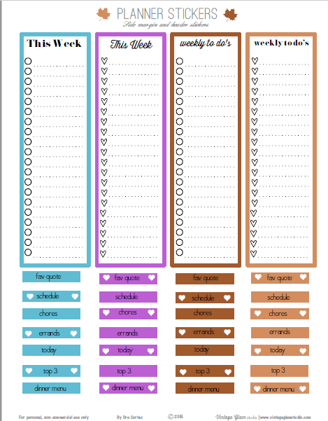 Fall Side Panel Checklists