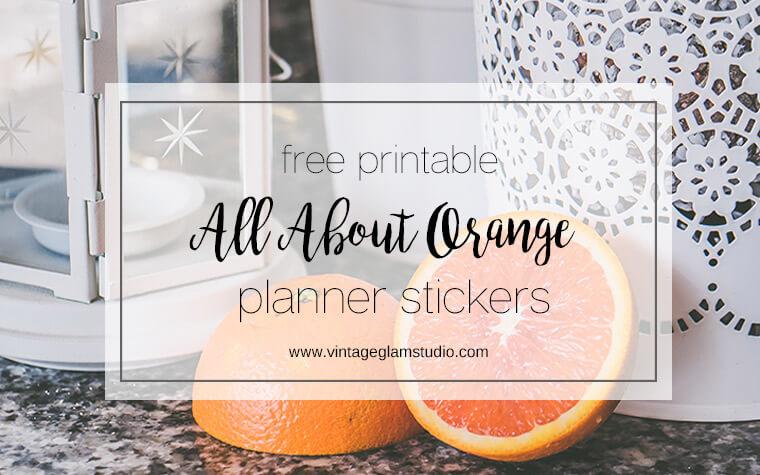 oranges, shabby chic decor