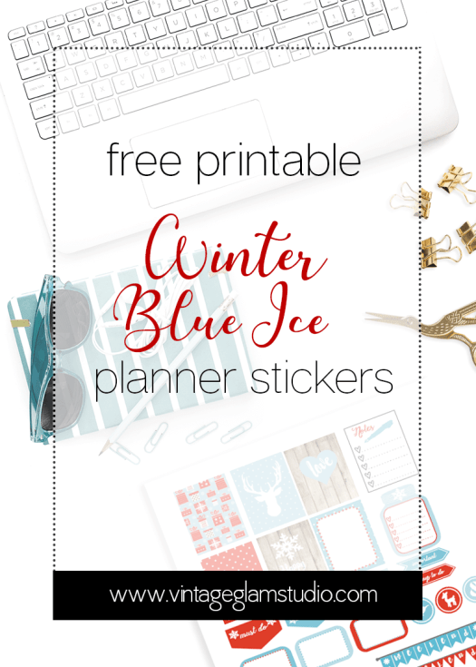 Winter Blue Ice printable