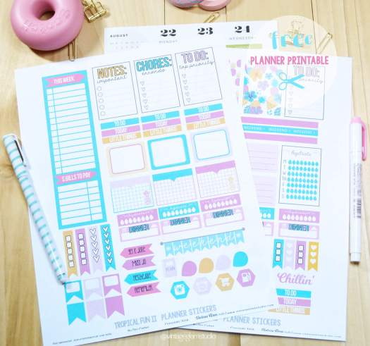 planner stickers printable print sample