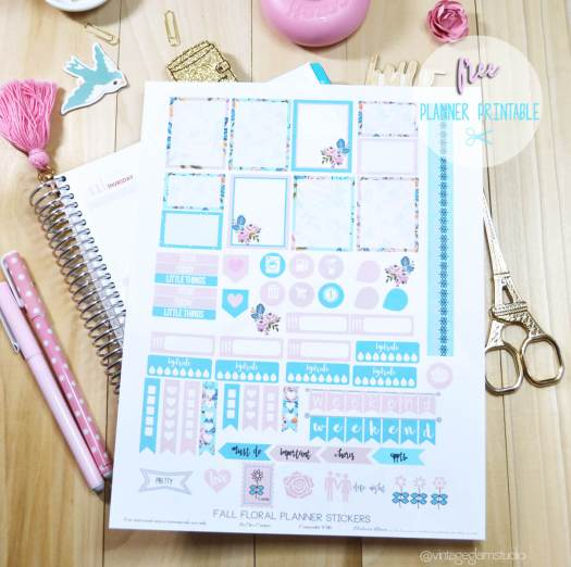 Fall planner stickers printable
