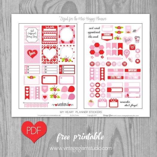 mini happy planner printable