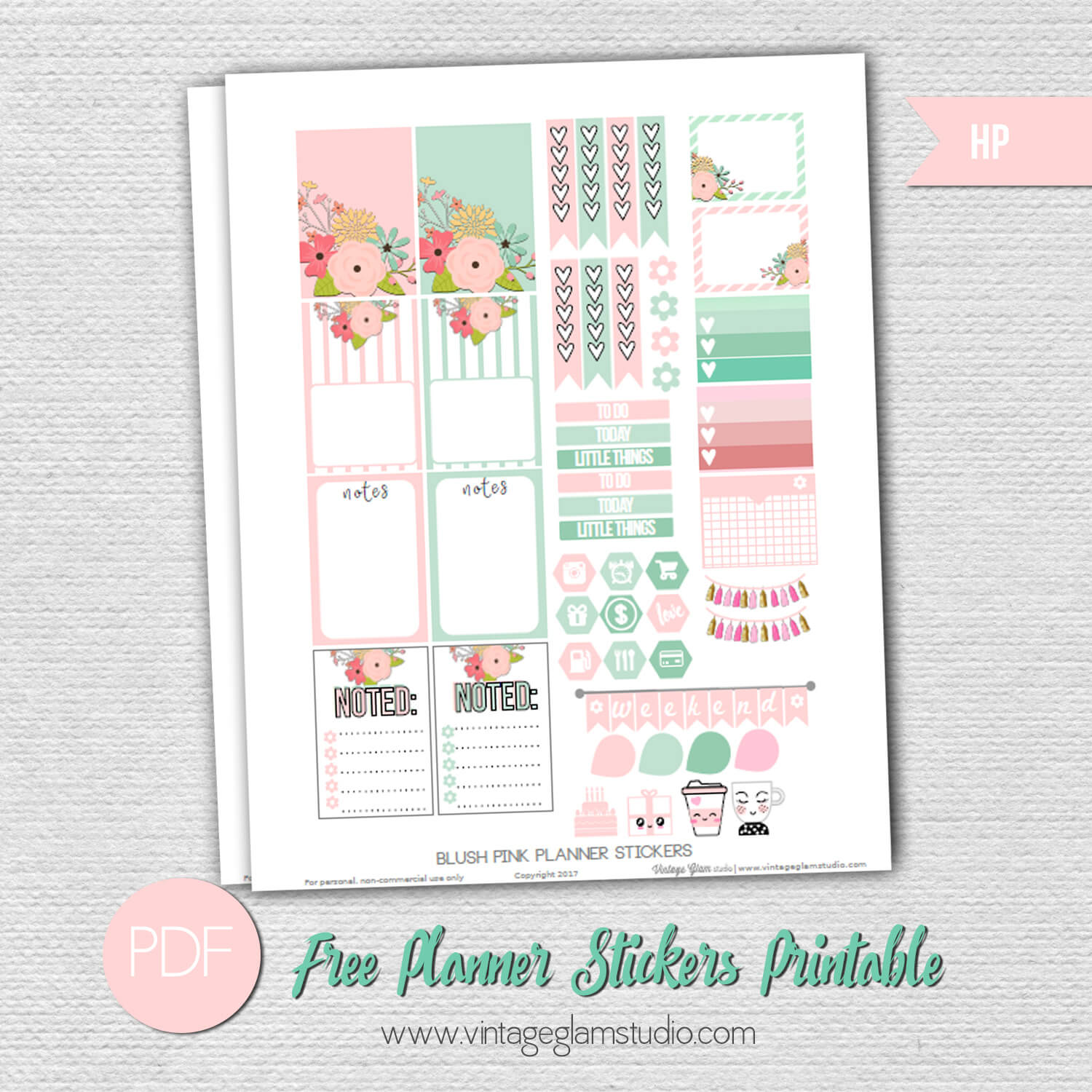 Free printable for the Happy Planner, free for personal use