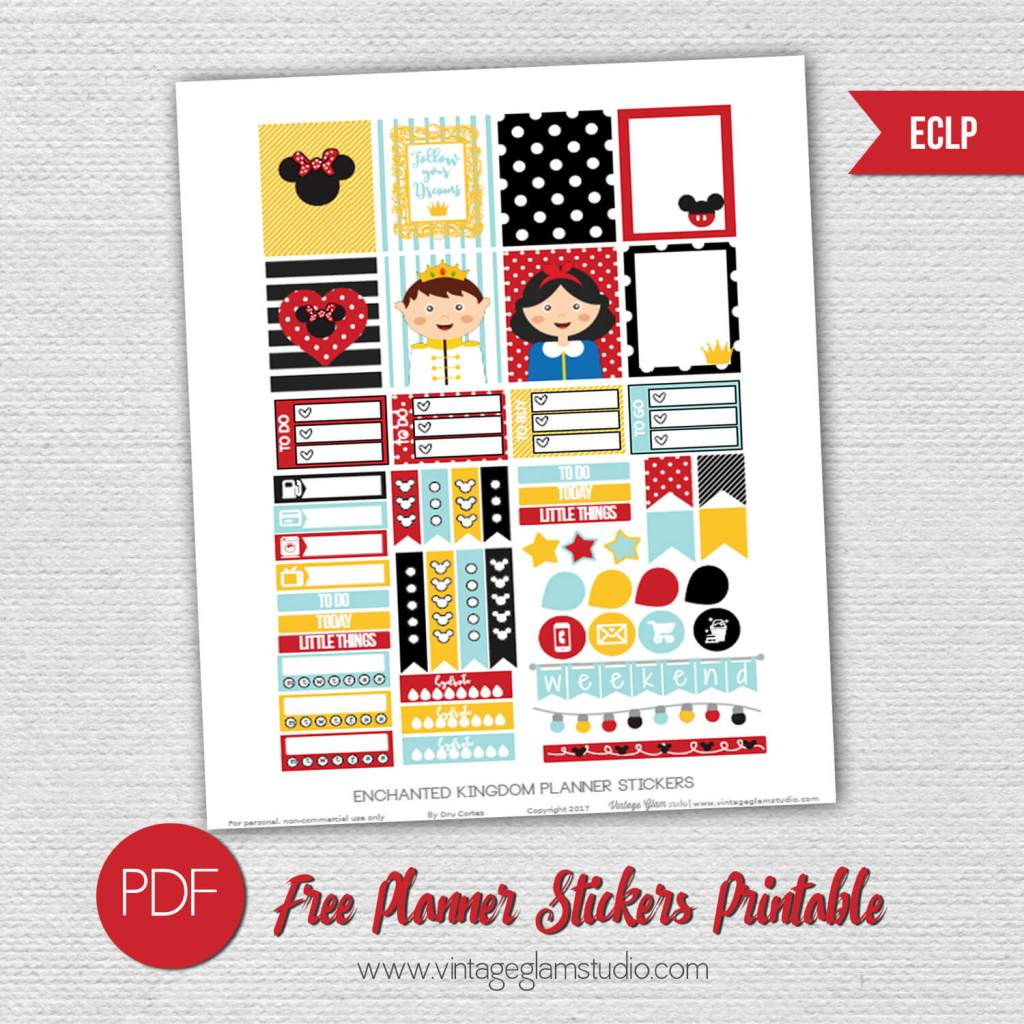 Free printable for the Erin Condren planner, for personal use only