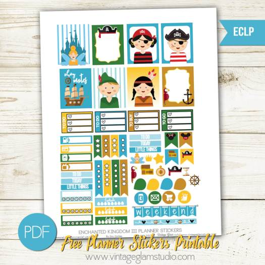 Free planner stickers for Erin Condren planner, free for personal use only