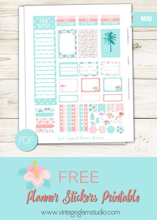 Free planner stickers printable for the Classic Happy planner, for personal use only
