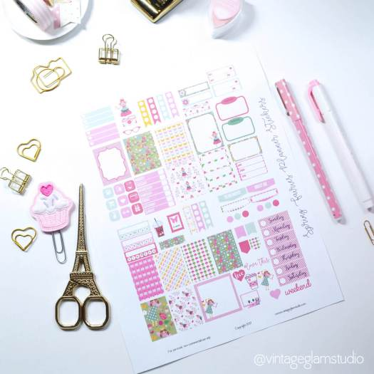 Spring-fairy-planner stickers