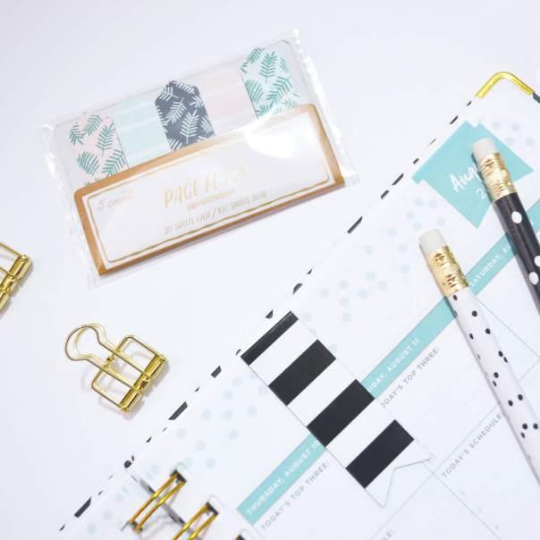 Daydesigner planner closeup & Target dollar spot items