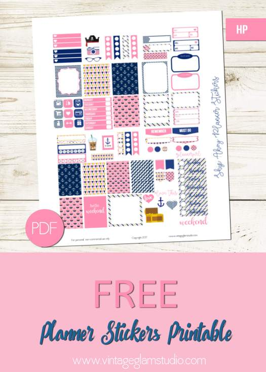 Free mini happy planner stickers, for personal use only