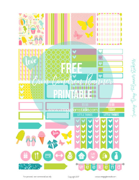 Free erin condren planner printable, for personal use only