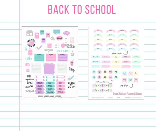 Free planner stickers printable preview