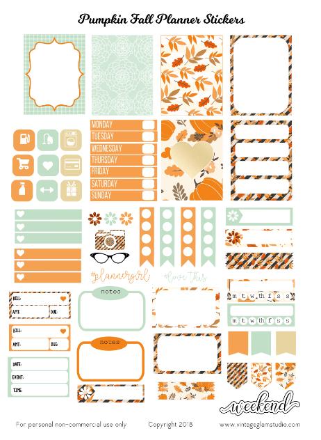 HPM-Pumpkin-Fall planner stickers printable