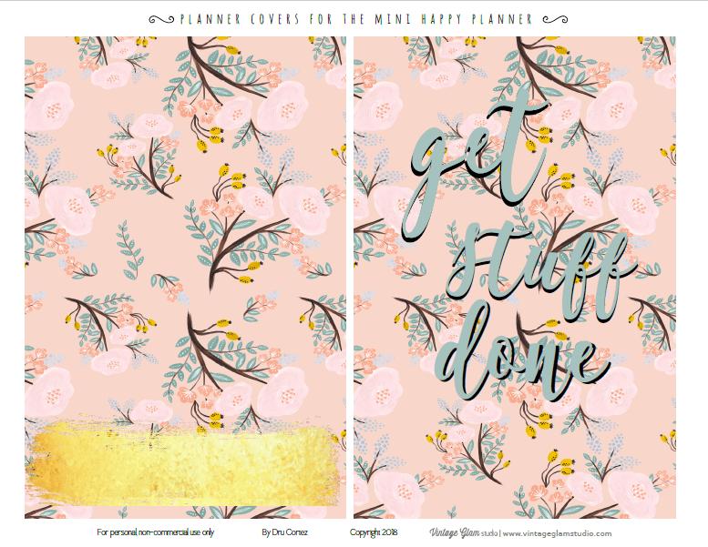 Mini happy planner covers printable