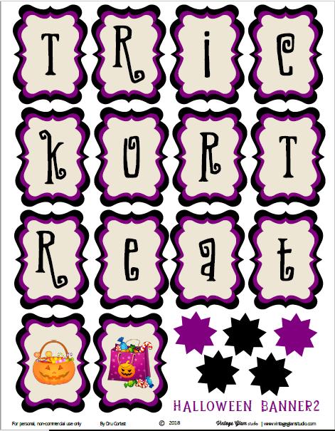 Halloween banner printable