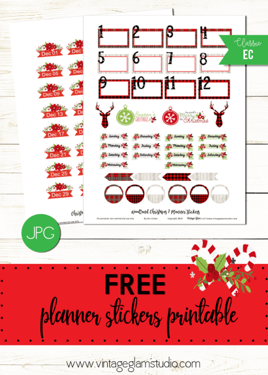 Woodland Christmas | planner stickers printable