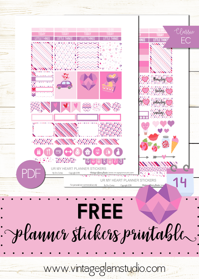 Ur My Heart | planner sticker printable, for personal use