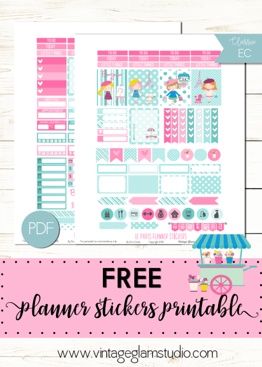 paris planner stickers printable