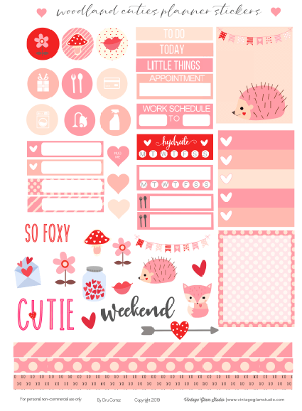 Cricut ready planner stickers printable