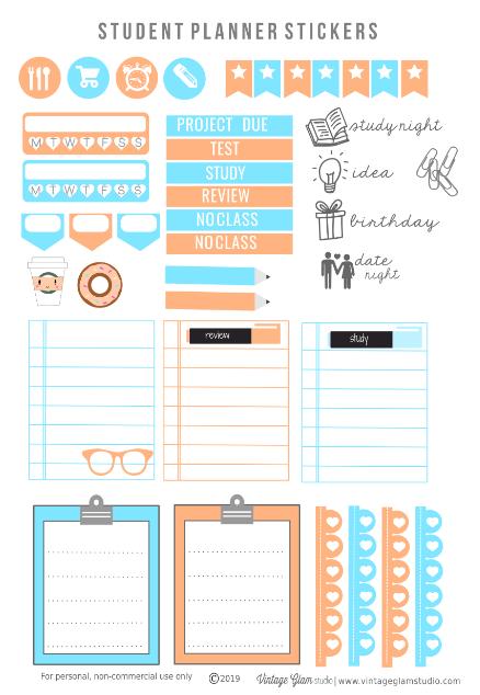 cricut ready planner stickers