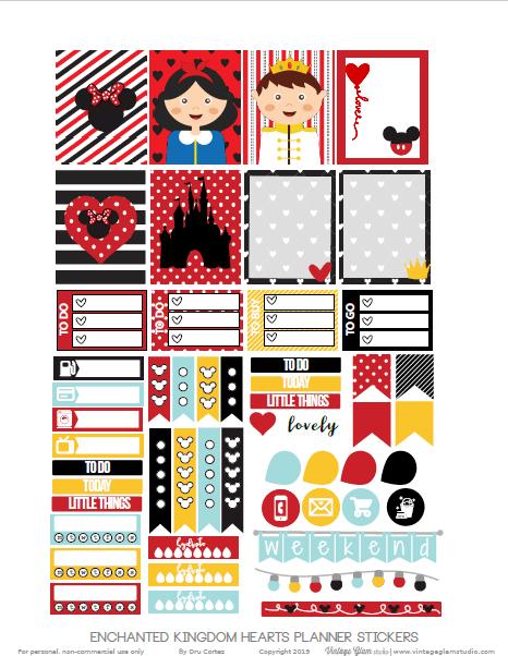 disney inspired planner stickers
