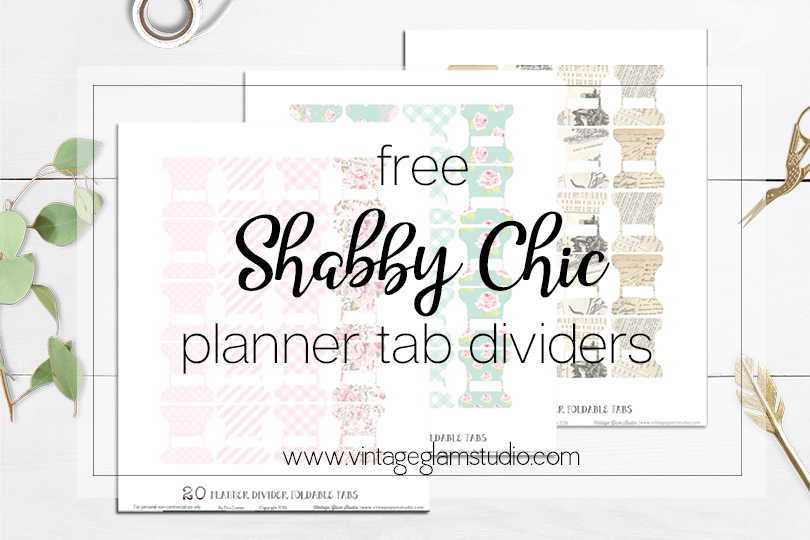 picture regarding Divider Tabs Printable titled Absolutely free Tab Dividers Planner Printable - Classic Glam Studio