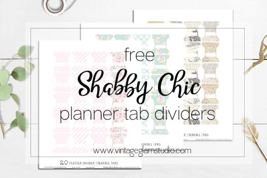 Free Tab Dividers Planner Printable Vintage Glam Studio