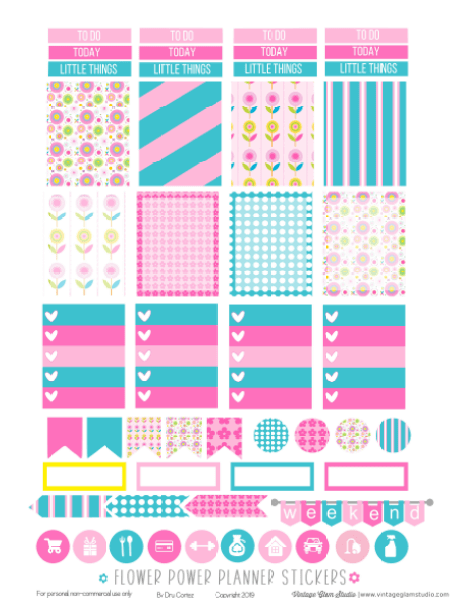 planner stickers printable pge one