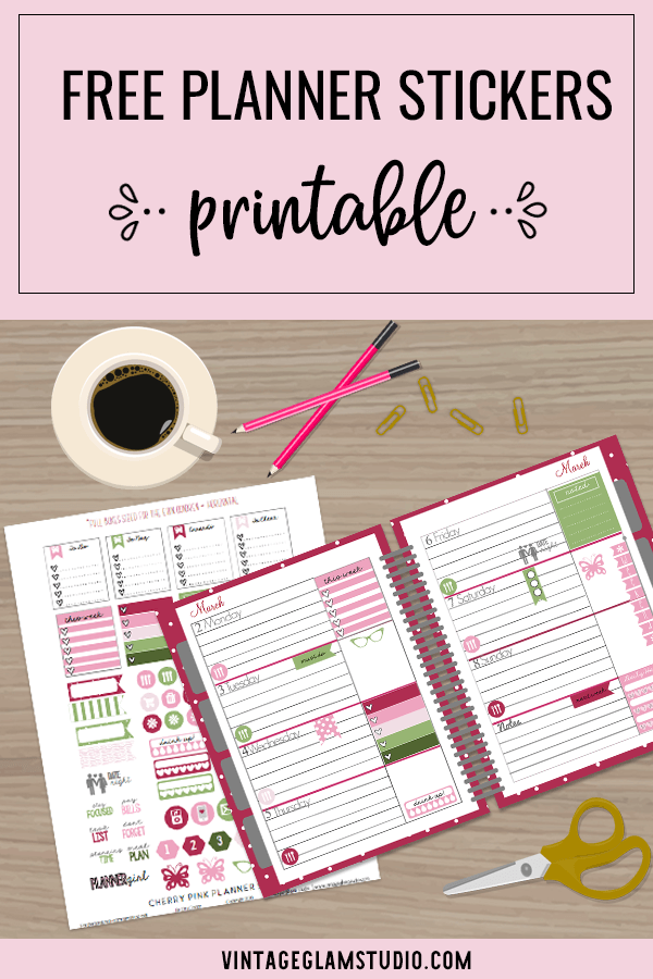 planner stickers printable on desk