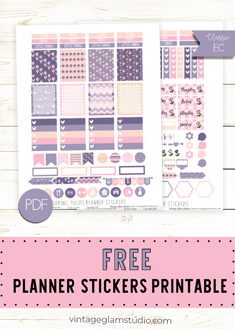 photograph about Free Printable Functional Planner Stickers named cost-free printable Archives - Typical Glam Studio