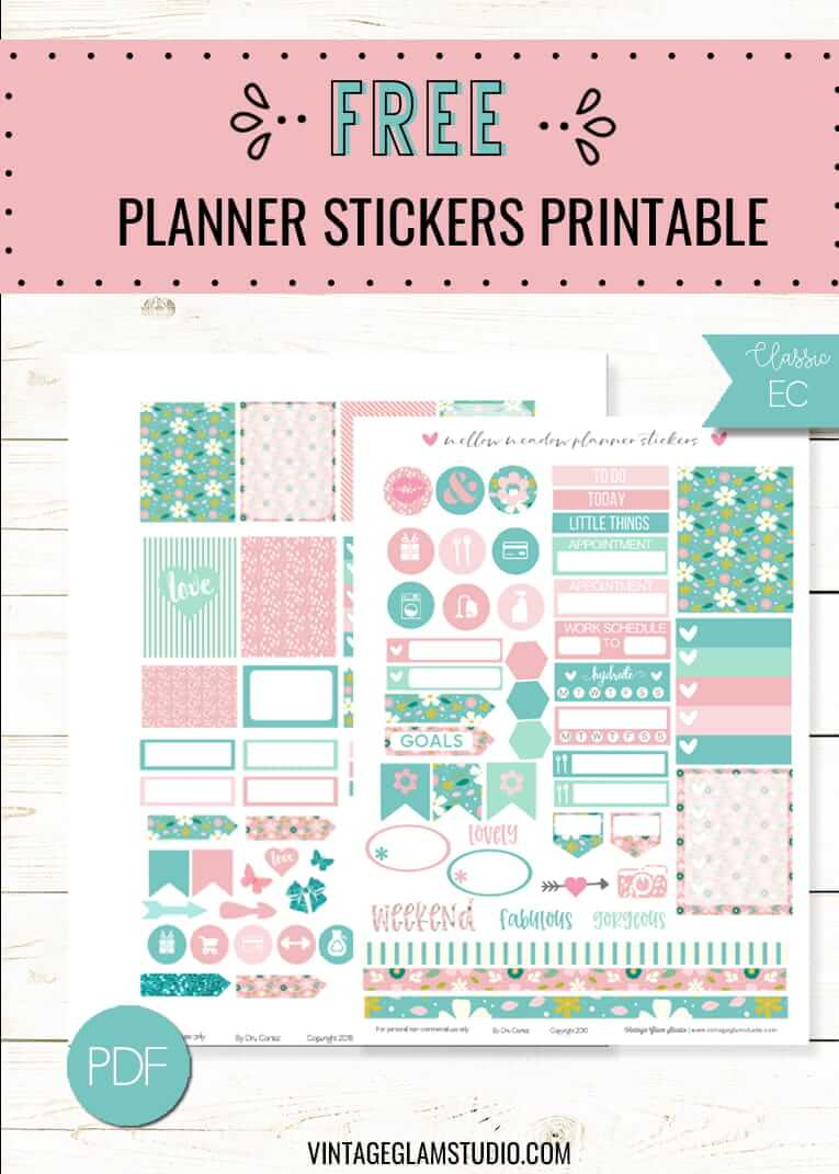 image relating to Free Printable Planner Stickers Pdf named printable pdf Archives - Typical Glam Studio