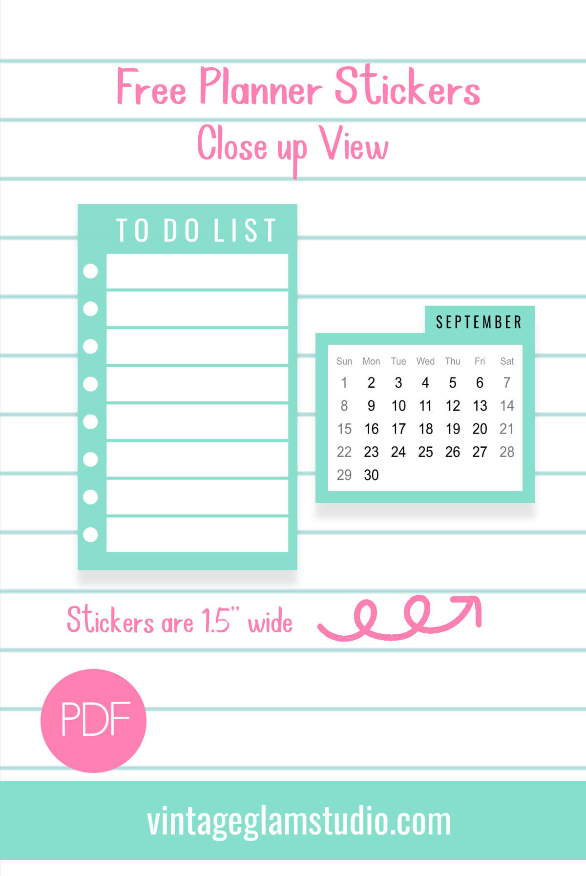 planner stickers close up