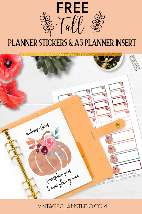 desktop with a5 planner & stickers