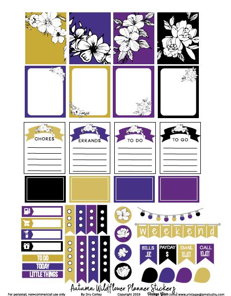 wildflower planner stickers