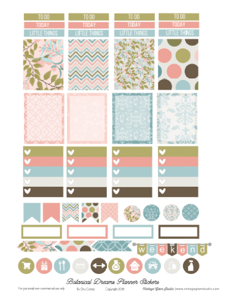 planner stickers page one